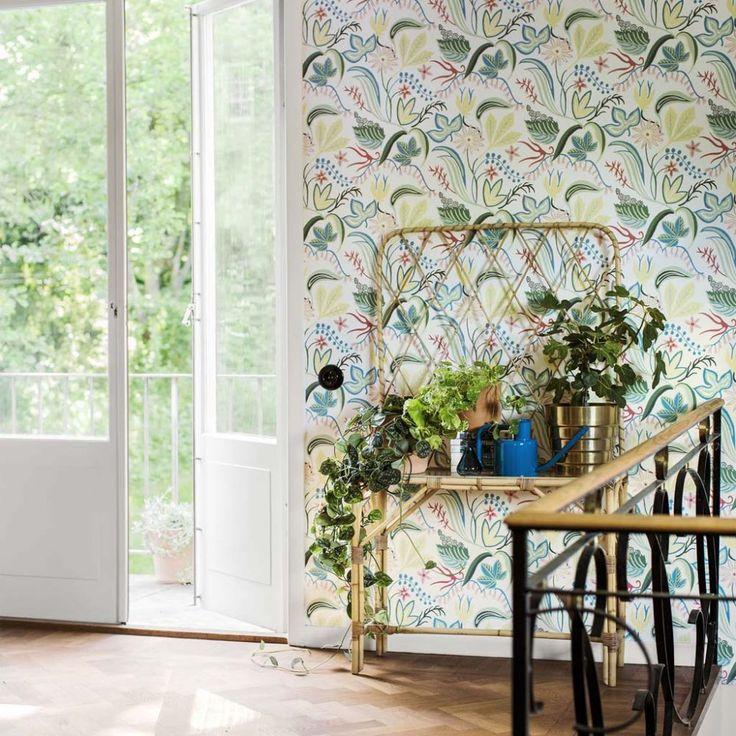 wallpaper Särö white, design Joy Zandén