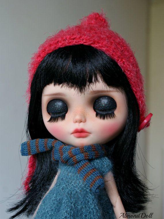 RESERVED Riley zakázku OOAK blythe doll jedinečné umělecké panenky ze strany