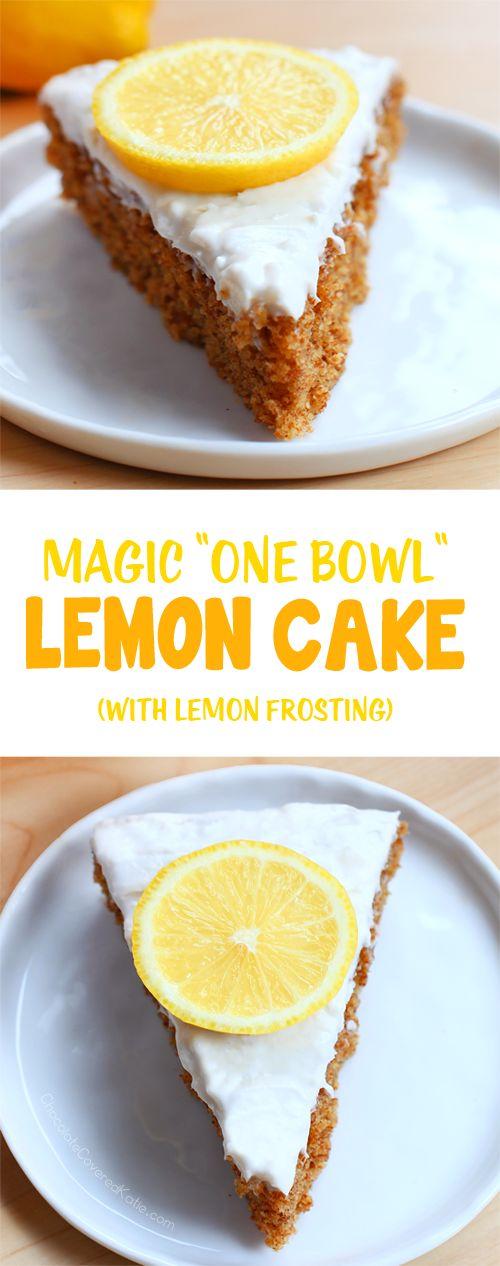 Lemon Cake + Whipped Cream Frosting