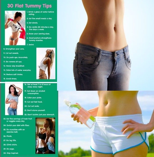 4 Ways to Get a Flat Stomach in a Week,25 Ways To Flatten Your Belly