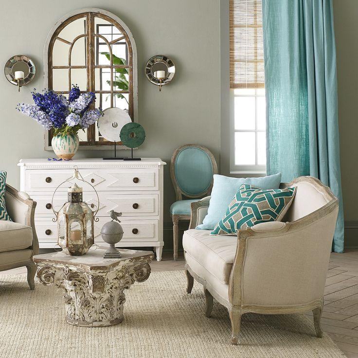 Linen European Furniture - Settee