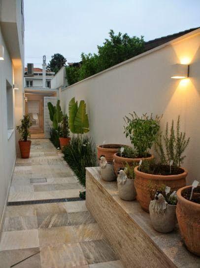 Decoração e Artesanato: Ideias para decorar o corredor lateral da casa.