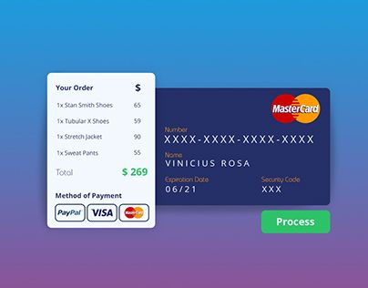 "Check out new work on my @Behance portfolio: ""Daily Ui 002 - Credit Card…"