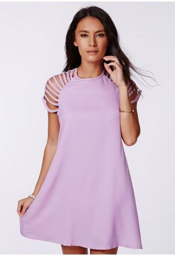 Berangaria Caged Sleeves Swing Dress - Dresses - Swing Dresses - Missguided
