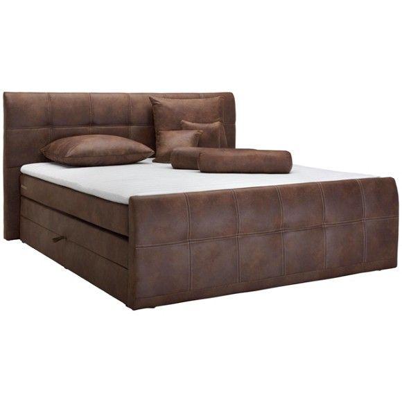 Tato postel boxspring od značky CARRYHOME Vás bude každou noc zvát k těm nejkrásnějším snům! Nechte se hýčkat pohodlím jako v luxusním hotelu. Hnědé látkové čalounění s povrchem z mikrovlákna jeúžasně hebké na dotek.Na ploše lůžka cca 180 x 200 cm (Š x D) si krásně odpočinete i s partnerem. Středně tvrdá matrace s bonelovým pružinovým jádrem je zárukou vysoké kvality a potřebné opory pro Vaše tělo. Šikovný topper s pěnovým jádrem vne