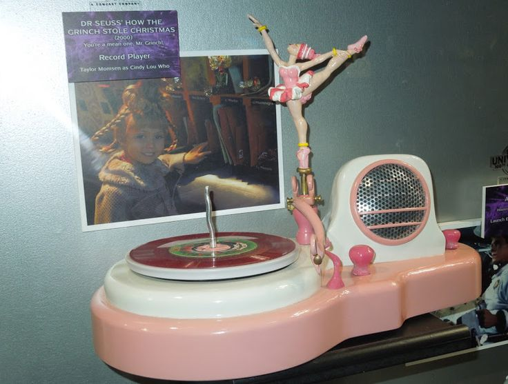 The Grinch ballerina record player film prop