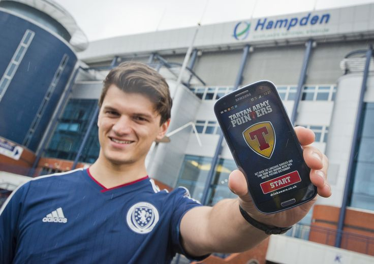 Technology - Tennent's Lager has kicked off the Euro 2016 football qualifiers with the creation of a pointer app, which aims to help the Tartan Army communicate with locals. The app – a follow up to the paper guides previously given to football fans - covers all the essentials: public transport, hotel rooms, stadiums and beer.