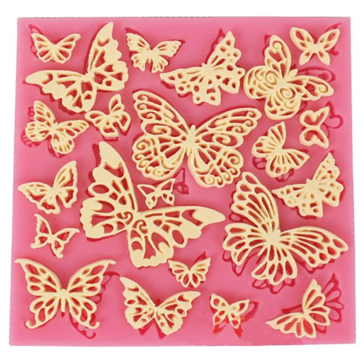 Diy flower kupu-kupu silikon renda tikar cetakan cupcake fondant gumpaste chocolate cetakan sugarcraft cake decorating alat ct684
