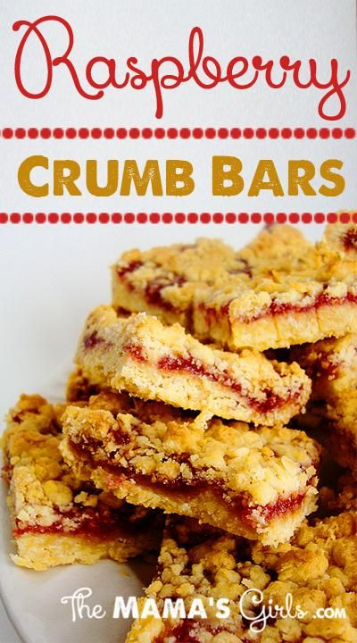 Raspberry Crumb Bars- Only 4 ingredients and it whipped up so fast ...
