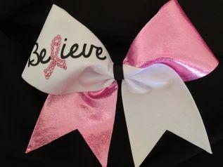 Cheer Bows Cheerleading bows bow, CHEER ALL STAR BOWS Pink Breast Cancer Bows