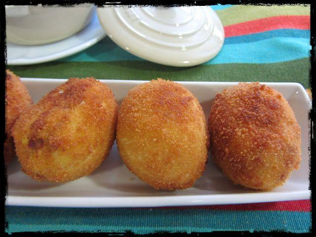 El Puchero de Morguix: Huevos rebozados rellenos de jamón
