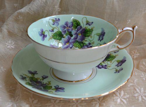 victorian tea cups | Tea Cup Tuesdays-Violets!