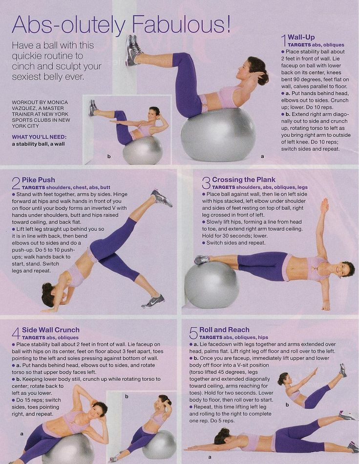 Winter is the perfect time to work on your abs. Get you a medicine ball + get to work!