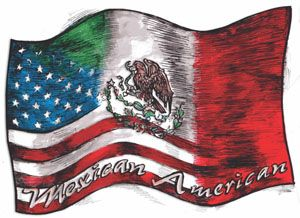 Mexican And American Flag Tattoos On Shoulder photo - 2