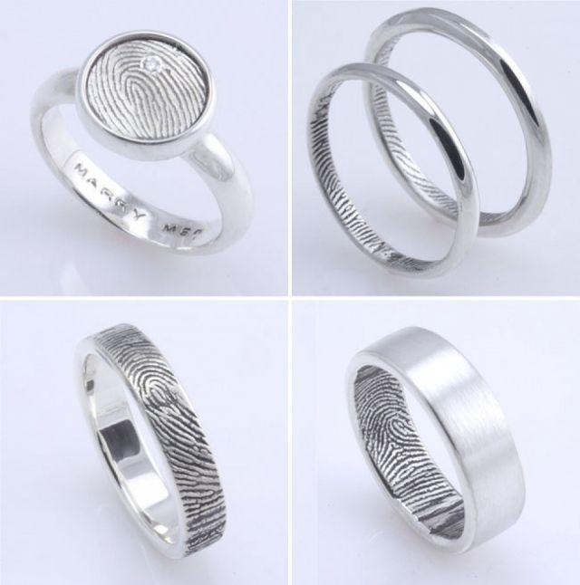 Mooie ringen met vingerafdruk