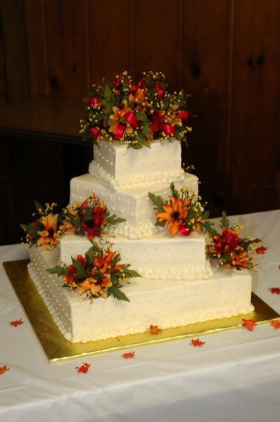 autumn square wedding cakes 7 best fall wedding cakes images on autumn 10897
