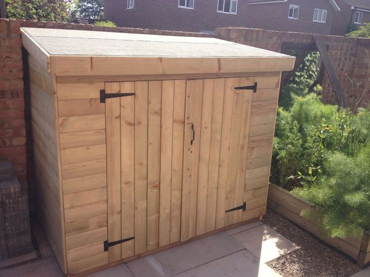 store 8x3 pent tool store tidy bike store shed garden mower wooden 16mm in garden