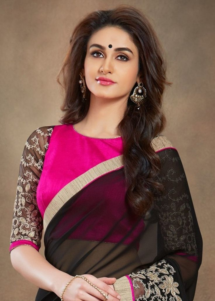 Occasion Wear Black Saree Embroidered Georgette Saree With Blouse Piece Designer…