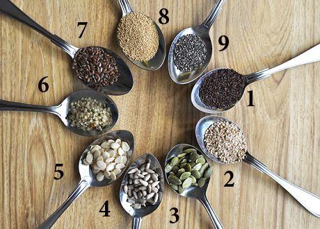 Frön fullproppade med fibrer, mineraler och nyttiga fetter. Och som du så lätt kan smyga ner i det mesta.  Här är en liten guide till några av de nyttigaste.