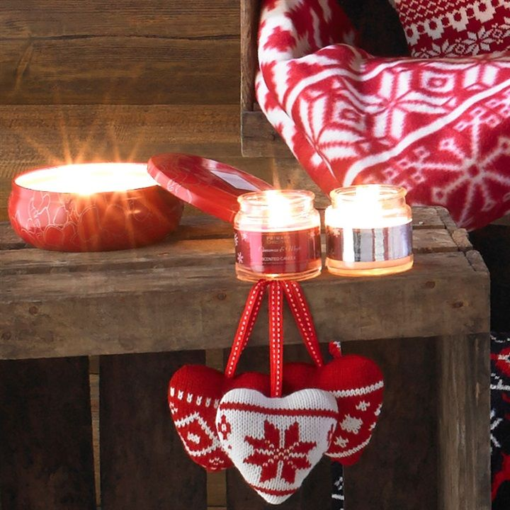 Festive primark home candles and love heart decorations for Heart decorations home