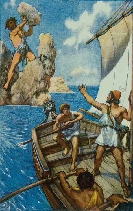 Odysseus and Polyphem | History | Pinterest | Und
