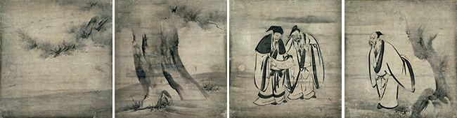 東京国立博物館 特別展「栄西と建仁寺」/竹林七賢図 1599 海北友松筆