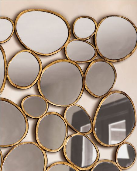 Pebble shaped mirrors.