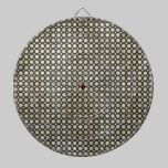 Contemporary Black and Tan Dots dartboards