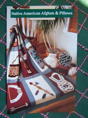 Free Native American Crochet Patterns   USA Free S Annies Crochet Patterns Native American Indian Afghan ...