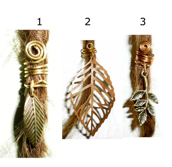 buy 3 and get 1 extra for free leaf dreadlock bead by seididread, €4.50