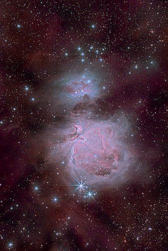 m42 (great orion nebula) and ngc1977 (running man nebula) - 7h20m | by pfile