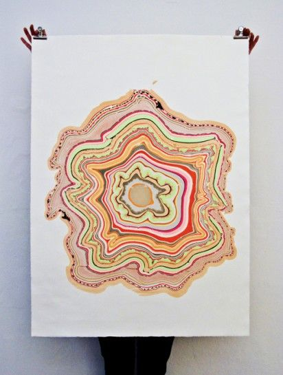 snedker studio's marbled paintings inspired by wood flooring | Design For Mankind