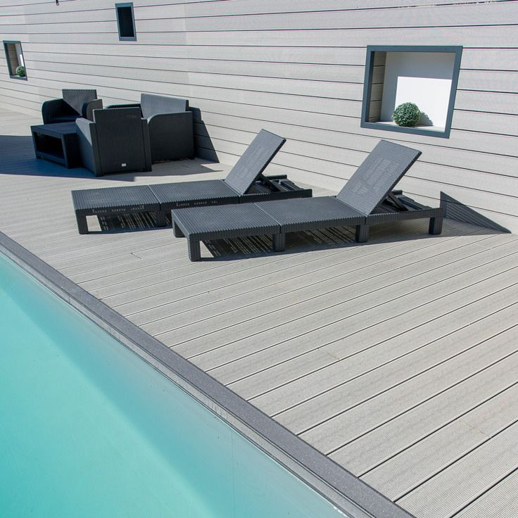 430 best wpc wood plastic floor images on pinterest for Cheap composite decking