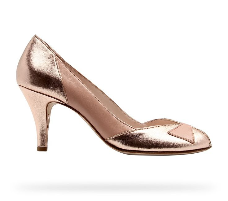 Low Cut Pump Sarah Chofakian Pink Gold and Venus Nude Nappa Calfskin and Lamskin by Repetto. #Repetto #Wedding #WeddingShoes #Nude #Rose #RepettoXSarahChofakian #SarahChofakian