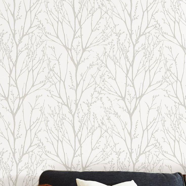 Treetops Peel And Stick 18 X 20 5 Wallpaper Roll Peel And Stick Wallpaper Tree Branch Wallpaper Farmhouse Wallpaper
