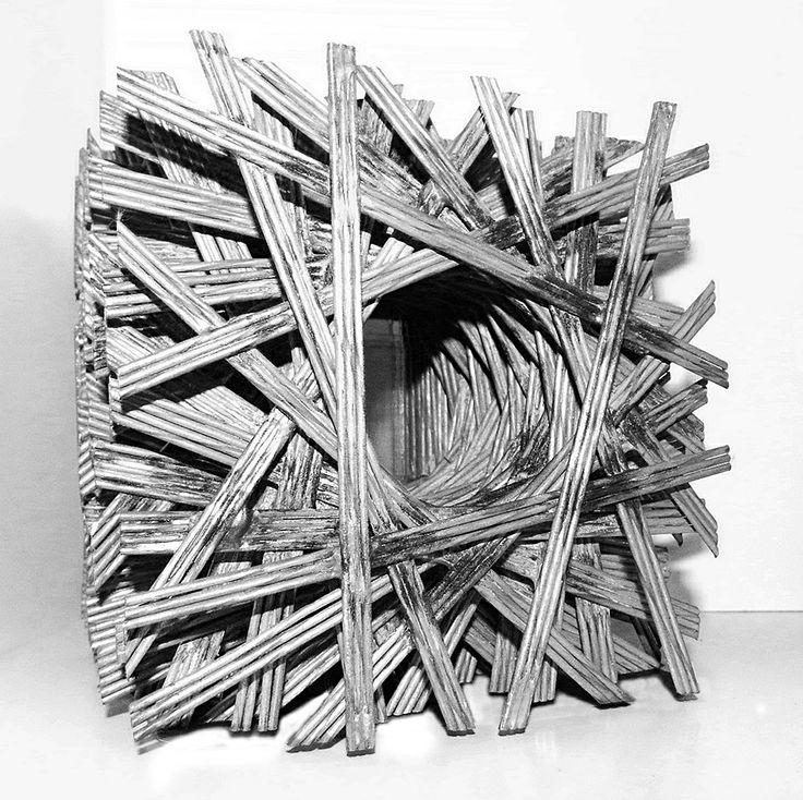 Segmentos Cubicos Escultura en Alambre Damián Sondereguer