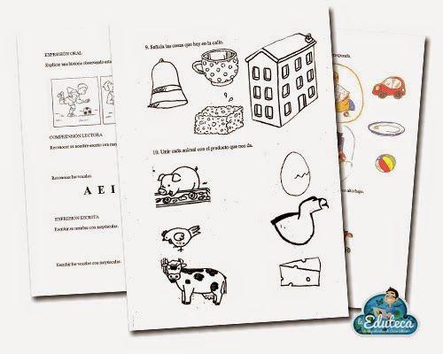La Eduteca: RECURSOS INFANTIL | Pruebas de evaluación inicial de Ed. Infantil (3 años)