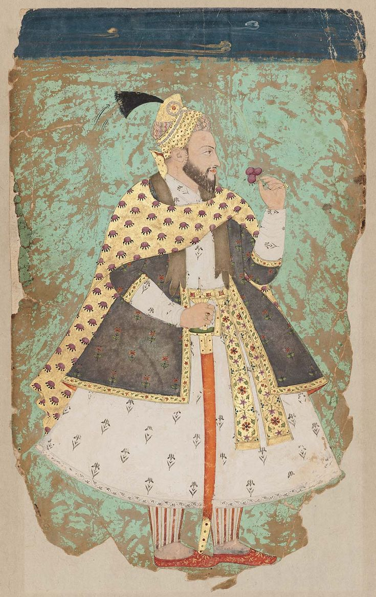 Portrait of Bahadur Shah (r. 1707–1712)  Indian Mughal period 18th century