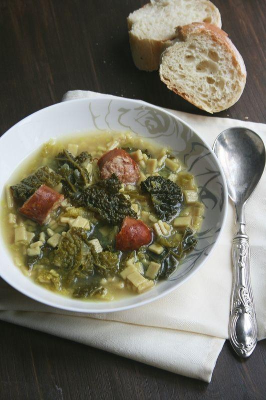 Soupe aux choux et crozets