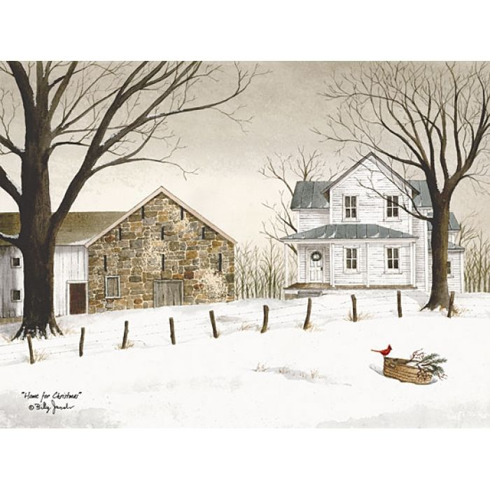 Home for Christmas, Billy Jacobs.  Lovely~  This print is in her family room on her planked wall.  lovely!