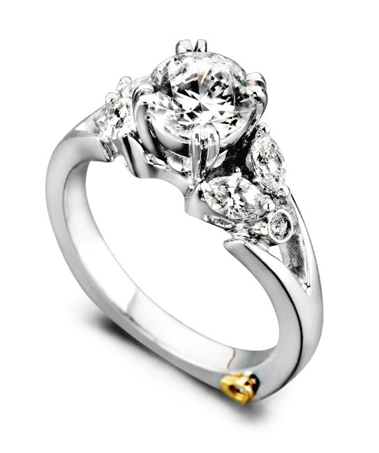 12 Best Floral Engagement Rings Images On Pinterest