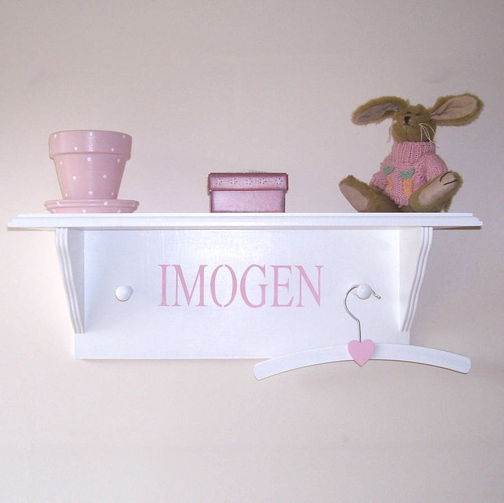 personalised child's shelf by the painted broom company | notonthehighstreet.com
