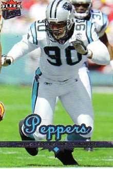 #1 RDE/LDE #2 Panther Julius Peppers  20022009122DE95