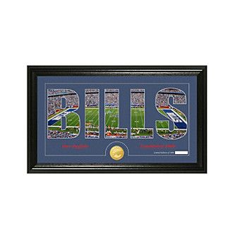 "NFL® Buffalo Bills ""Silhouette"" Bronze Coin Panoramic Photo Mint"