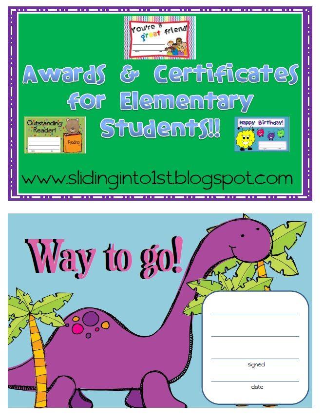 Classroom Ideas Awards : Classroom awards certificates freebies