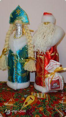 Дед Мороз и Снегурочка на бутылках (МК по изготовлению) | Страна Мастеров