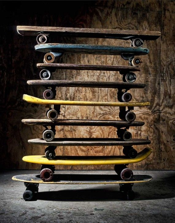vintage skateboards, 11 x 14 photograph via unadillaarts on Etsy