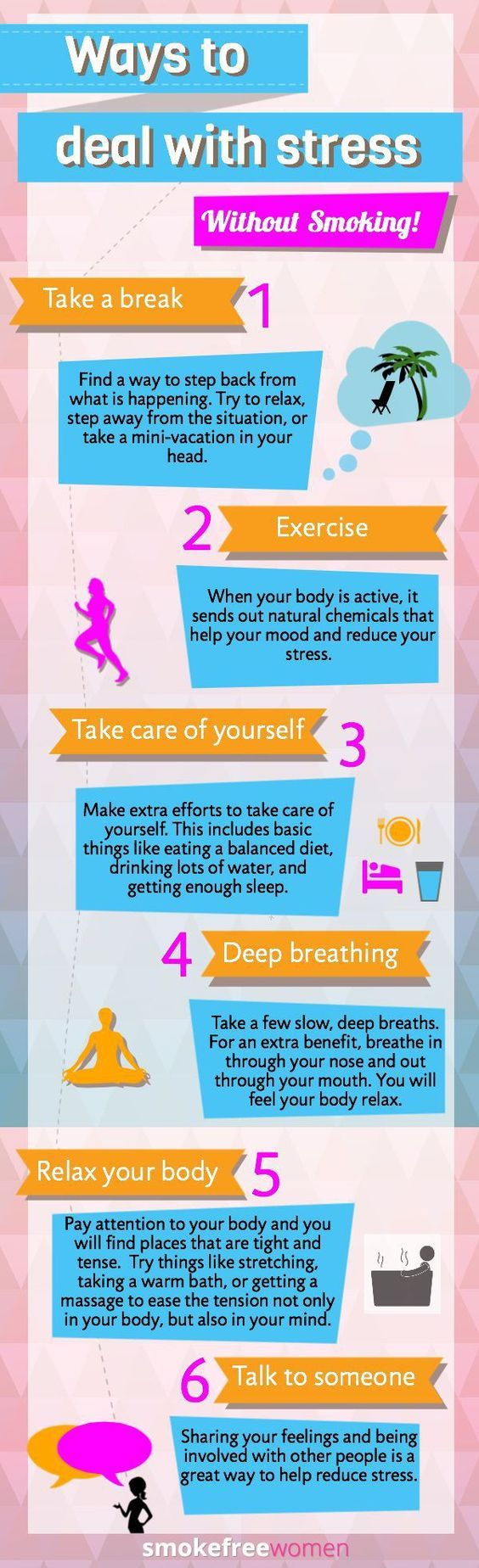 How to deal with stress without smoking...