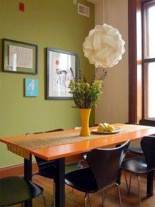 Green Wall in various contexts - Πράσινος τοίχος σε διάφορες αποχρώσεις στο σαλόνι, στην τραπεζαρία, στην κουζίνα, στο μπάνιο | Small Things