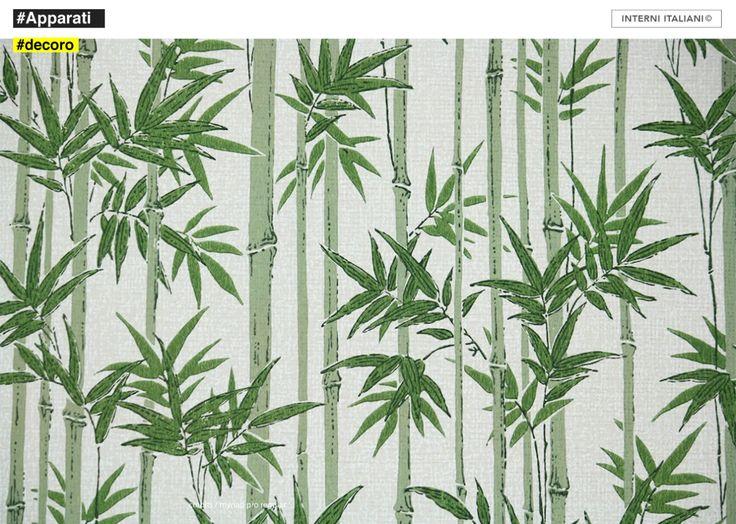 Luisa, Studio e ricerca di Giorgio Drasler #pattern #interniitaliani #wallpaper #bambù #interior #GiorgioDrasler #interior